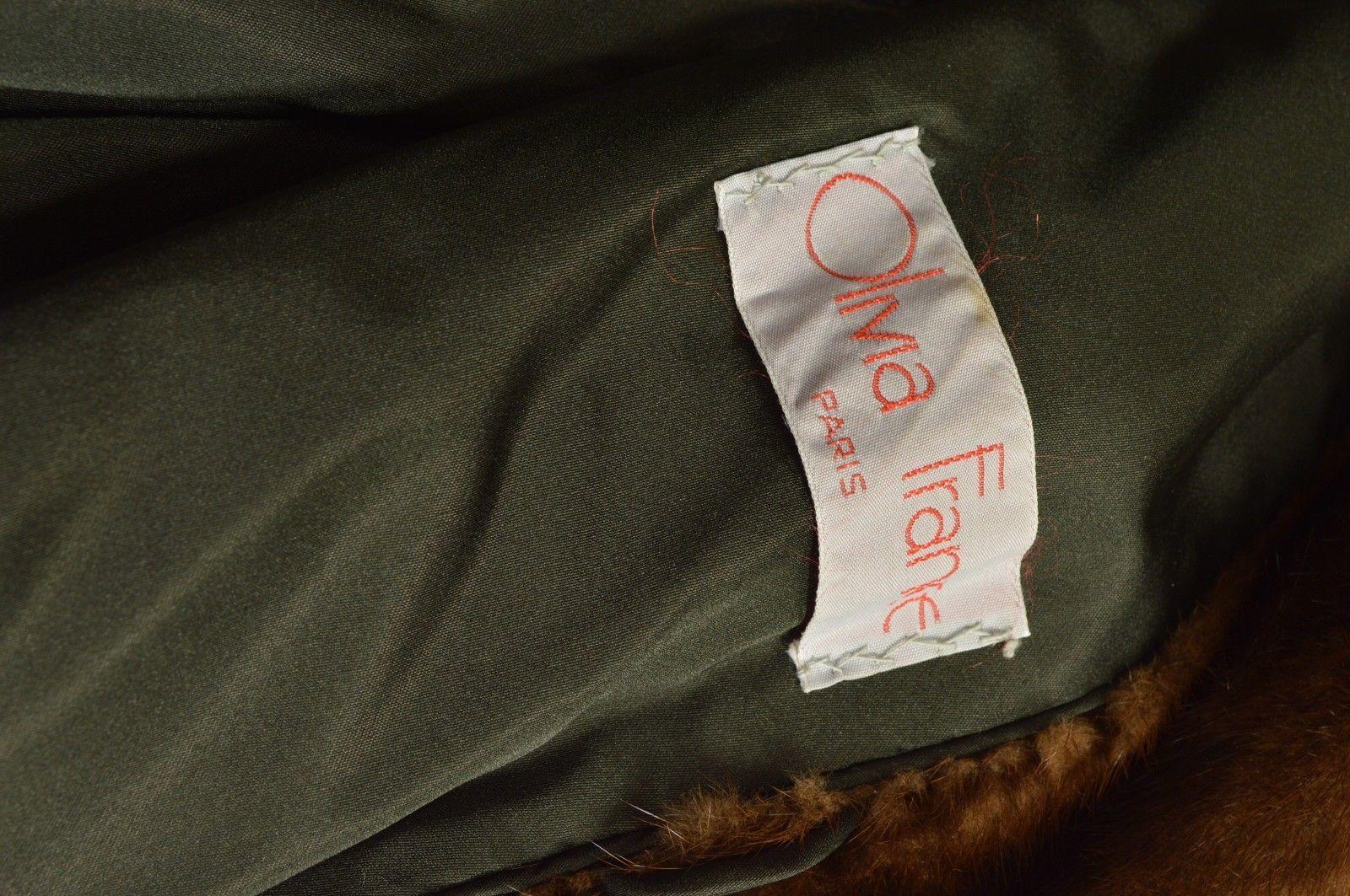 1 France Olivia fur mink coat FR 44 full length mahogany chic sophisticated