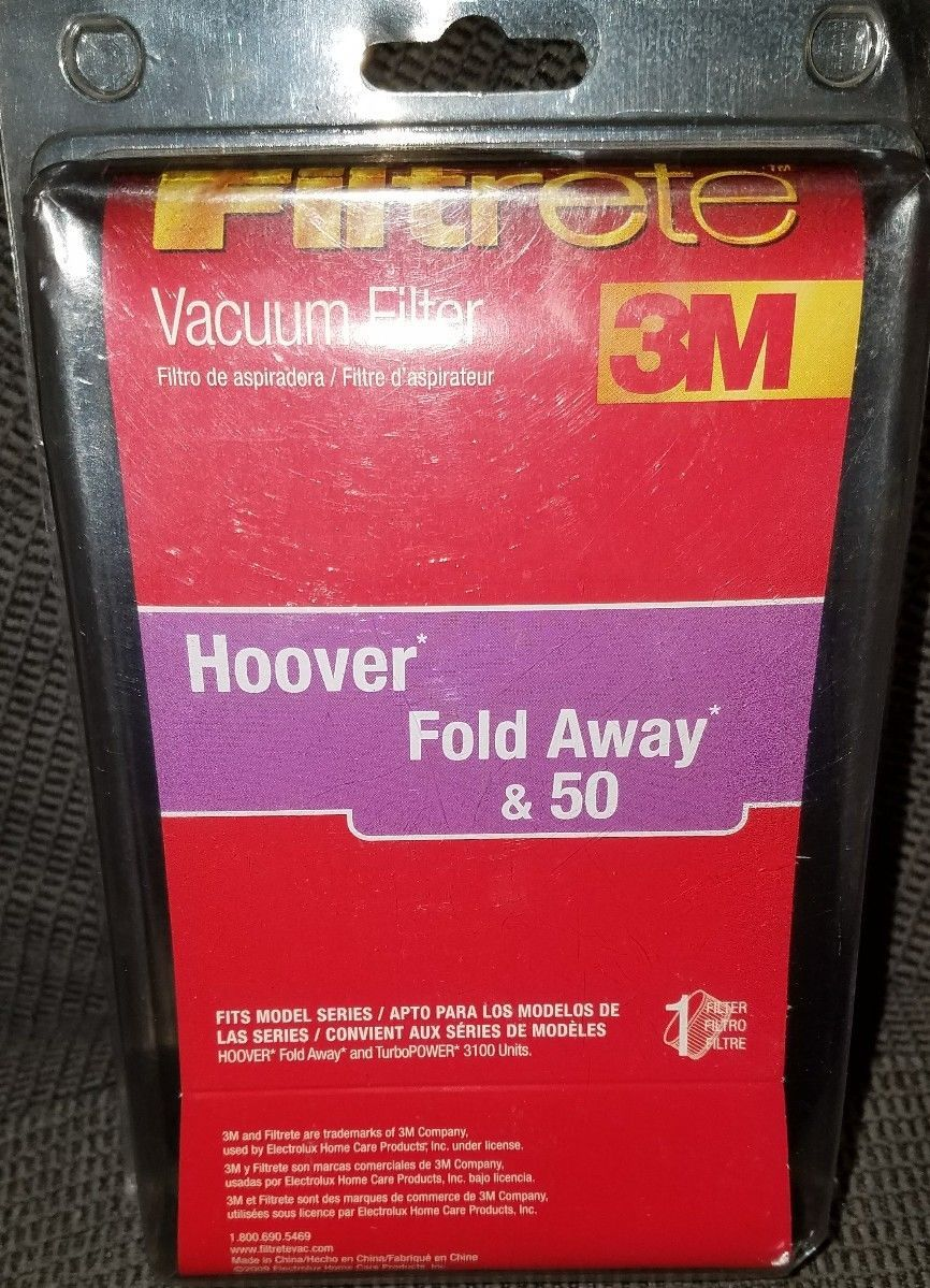 new Vacuum filter Hoover  fold away & 50