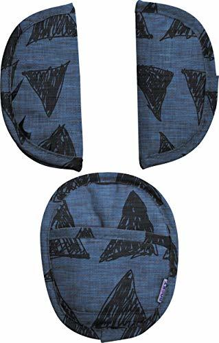 Dooky 3 Pieces Infant Car Seat Strap Covers - Soft, Breathable, Machine Washable