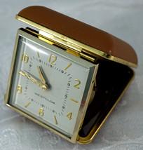 Vintage Westclox Wind Up Folding Travel Alarm Clock Fully Functioning - $25.99