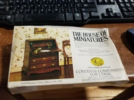 1/12 CHIPPENDALE DESK KIT #40017 HOUSE OF MINIATURES NEW FACTORY SEALED - $8.90