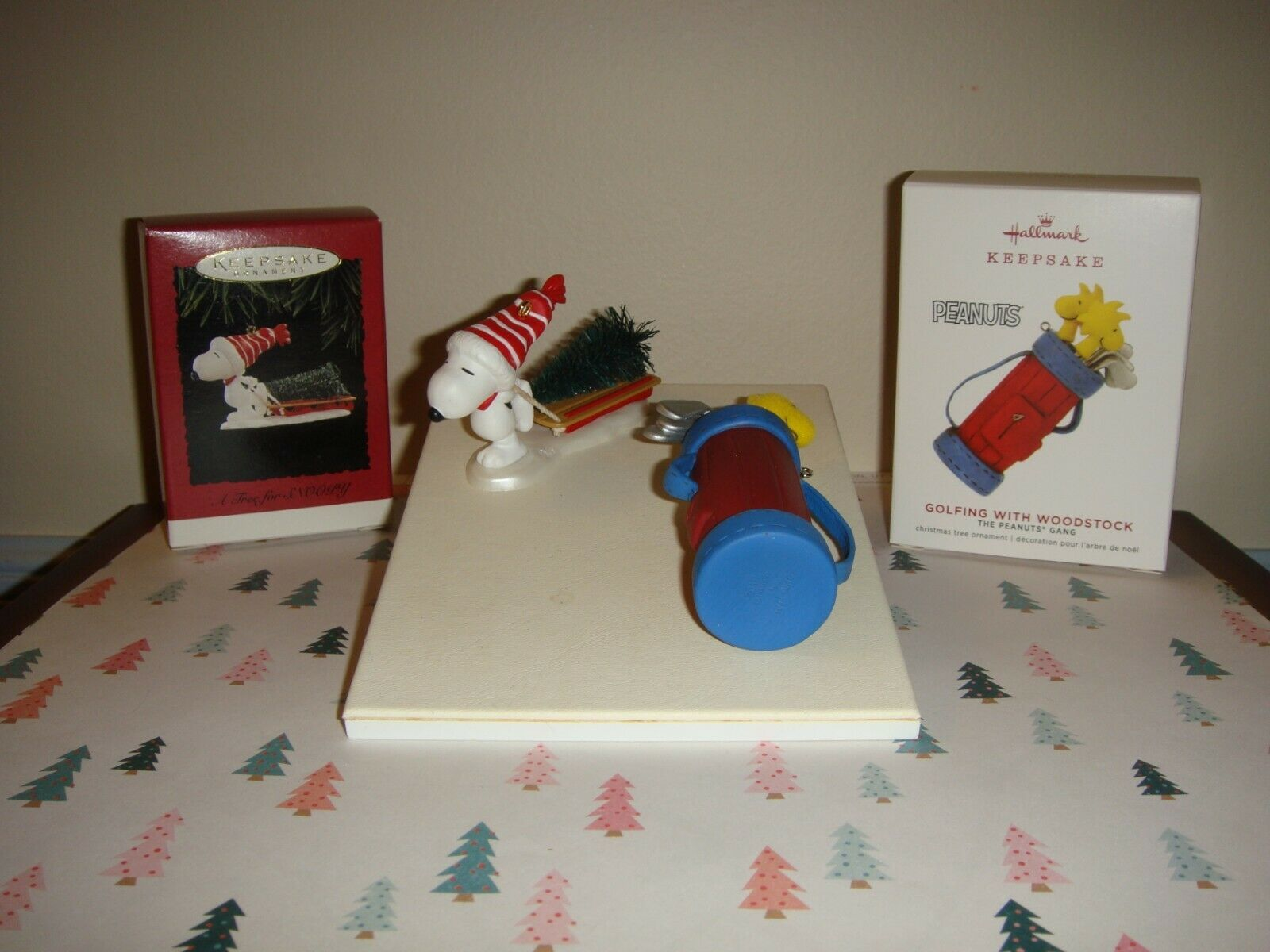 Hallmark 2019 Limited Ed Golfing With Woodstock & 96 A Tree For Snoopy Ornaments