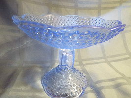 """Beautiful Gorham Blue Hobnail Pedestal Compote from Germany 7 2/8"""" Diameter - $24.99"""