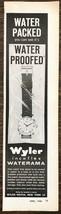 1958 Wyler Incaflex Waterama Wristwatch Print Ad Water Packed See Waterp... - $8.95