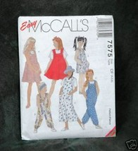 McCall's #7575 Children's & Girls' Jumper & Jumpsuit - $2.00