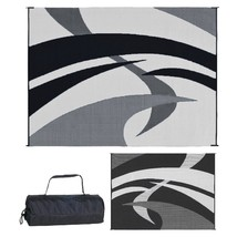 Reversible Mat Outdoor Rug Patio Indoor RV Camping Carpet Beach Area Dec... - $115.10