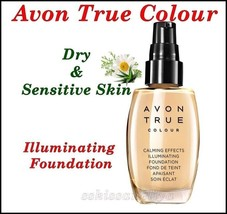 Avon True Colour Calming Effects Illuminating Foundation Dry&Sensitive Skin 30ml - $12.60
