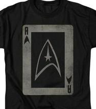 Star Trek Star fleet emblem playing card t-shirt retro TV graphic tee CBS1420 image 2