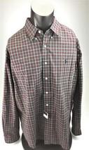 Ralph Lauren Classic fit red & green long sleeve button down shirt NEW XXL - $54.44