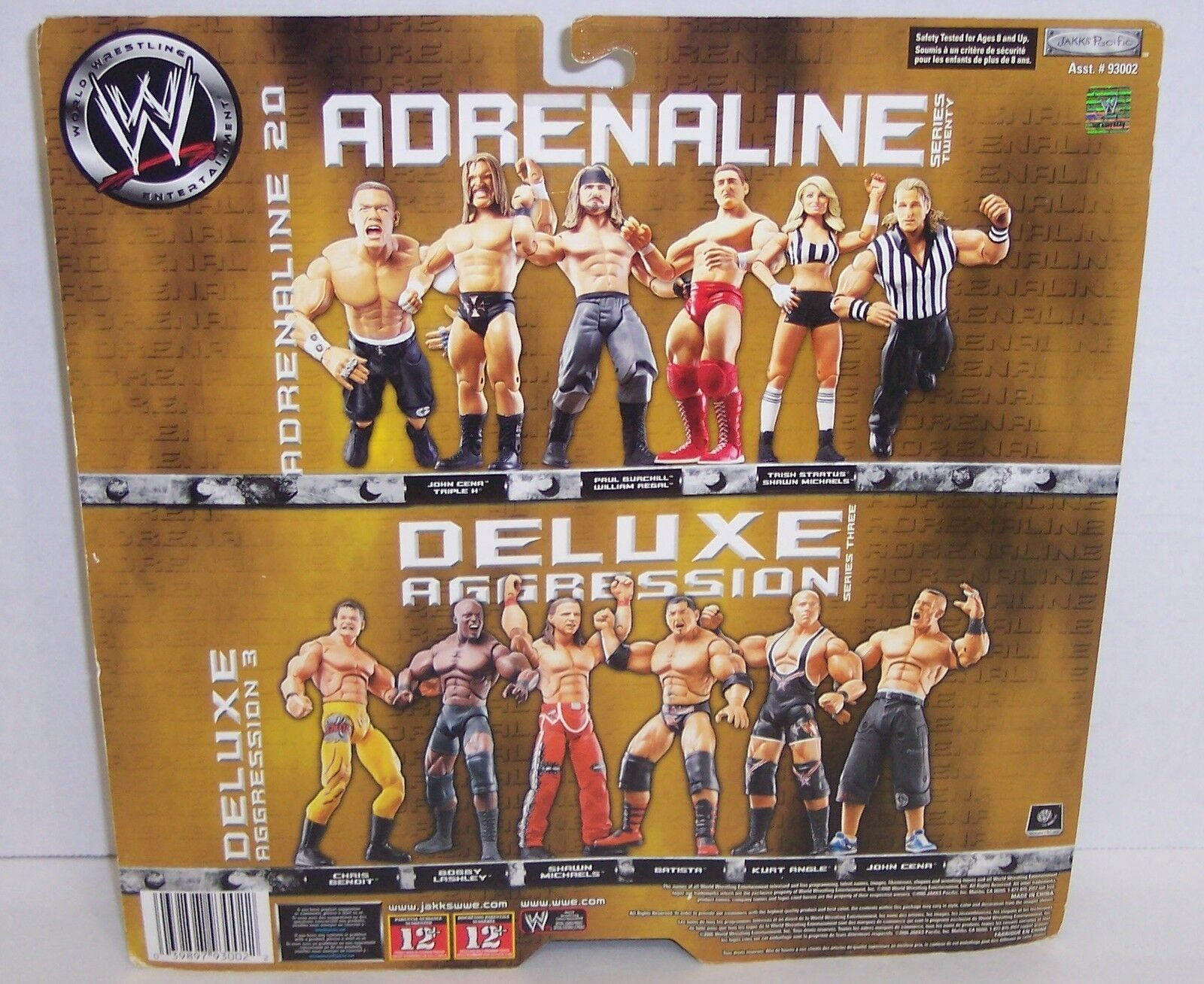 "NEW! Adrenaline ""Trish Stratus"" & ""Shawn Michaels"" Action Figure Set WWE {1483}"