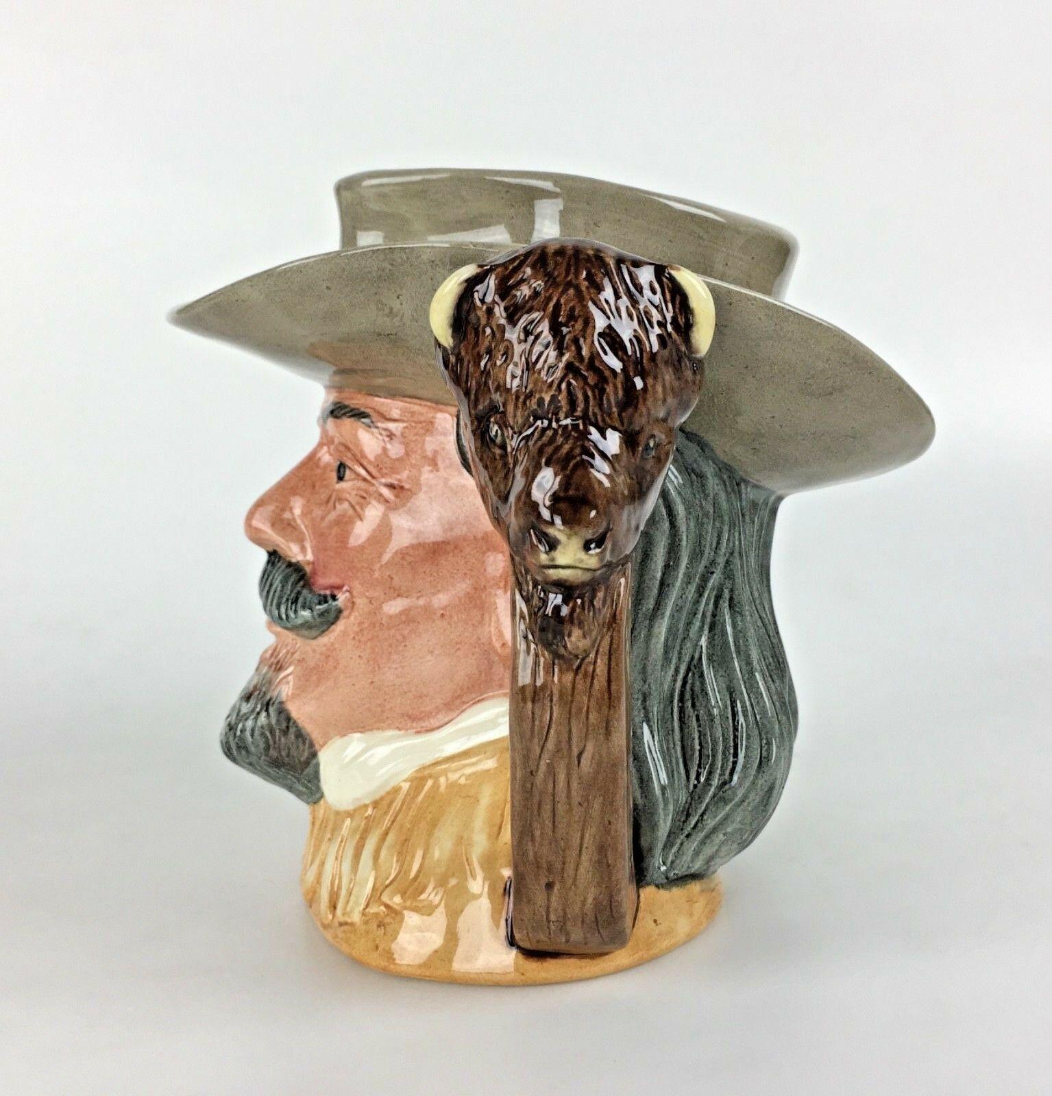 Royal Doulton Buffalo Bill Toby Mug Jug 1984 Wild West D6735 Tabbenor Decor Gift