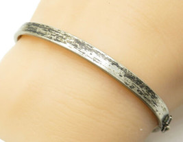 925 Sterling Silver - Vintage Minimalist Darkened Petite Bangle Bracelet... - $44.29