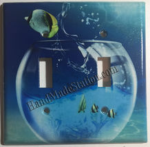 Fish Jump out from Glass Light Switch Power Outlet wall Cover Plate Home decor image 3