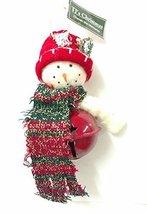 Santa or Snowman Bell Ornament (Snowman) - $10.00