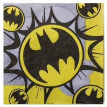 Batman Classic Lunch Dinner Napkins 16 Per Package Birthday Party Suppli... - $3.91