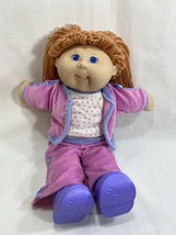 2004 Cabbage Patch Doll Blue Eyes Red Orange Hair Teeth Clothes Shoes Play Along - $24.74