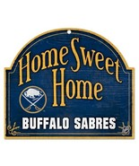 WinCraft NHL Buffalo Sabres Wood Arched Sign, 10 x 11, Black - $21.55