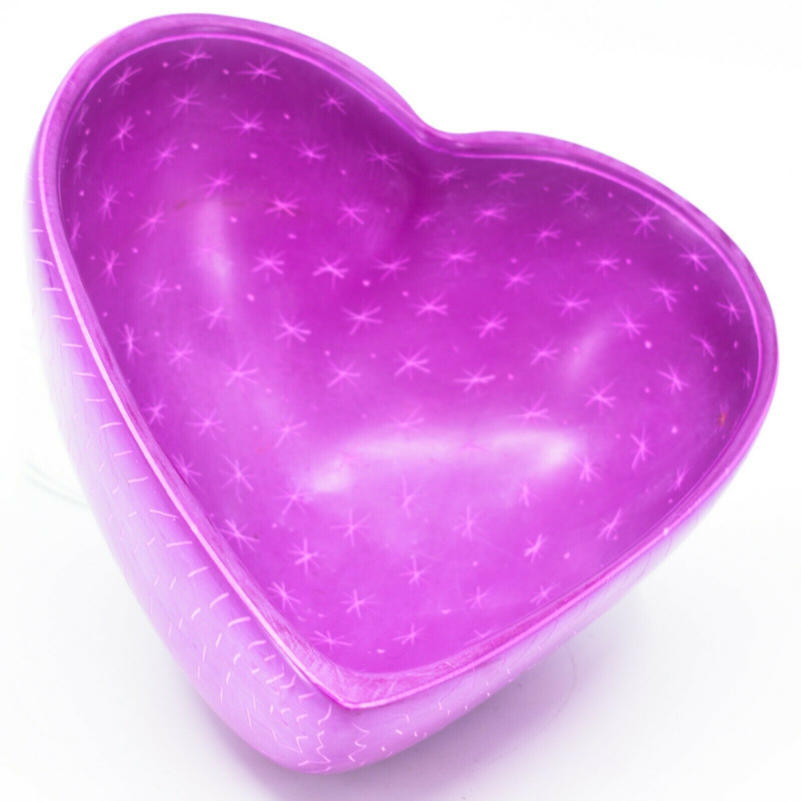 Vaneal Group Hand Carved Kisii Soapstone Fuchsia Pink Heart Decorative Bowl