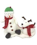 Hallmark Jingle Pals Snowman and Dog 2004 Plush Sound Motion Jingle Bell... - $35.99