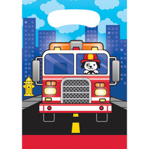 Flaming Fire Truck Loot Bags (8) - $2.58