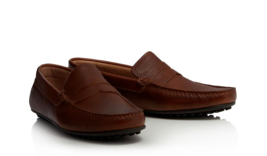 J by Jasper Conran - Tan leather loafers - $70.00