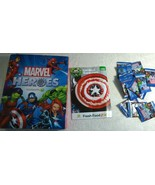 Australia Marvel Super Heroes 36/42 in Collectors Album & 15 Sealed Pack... - $91.90