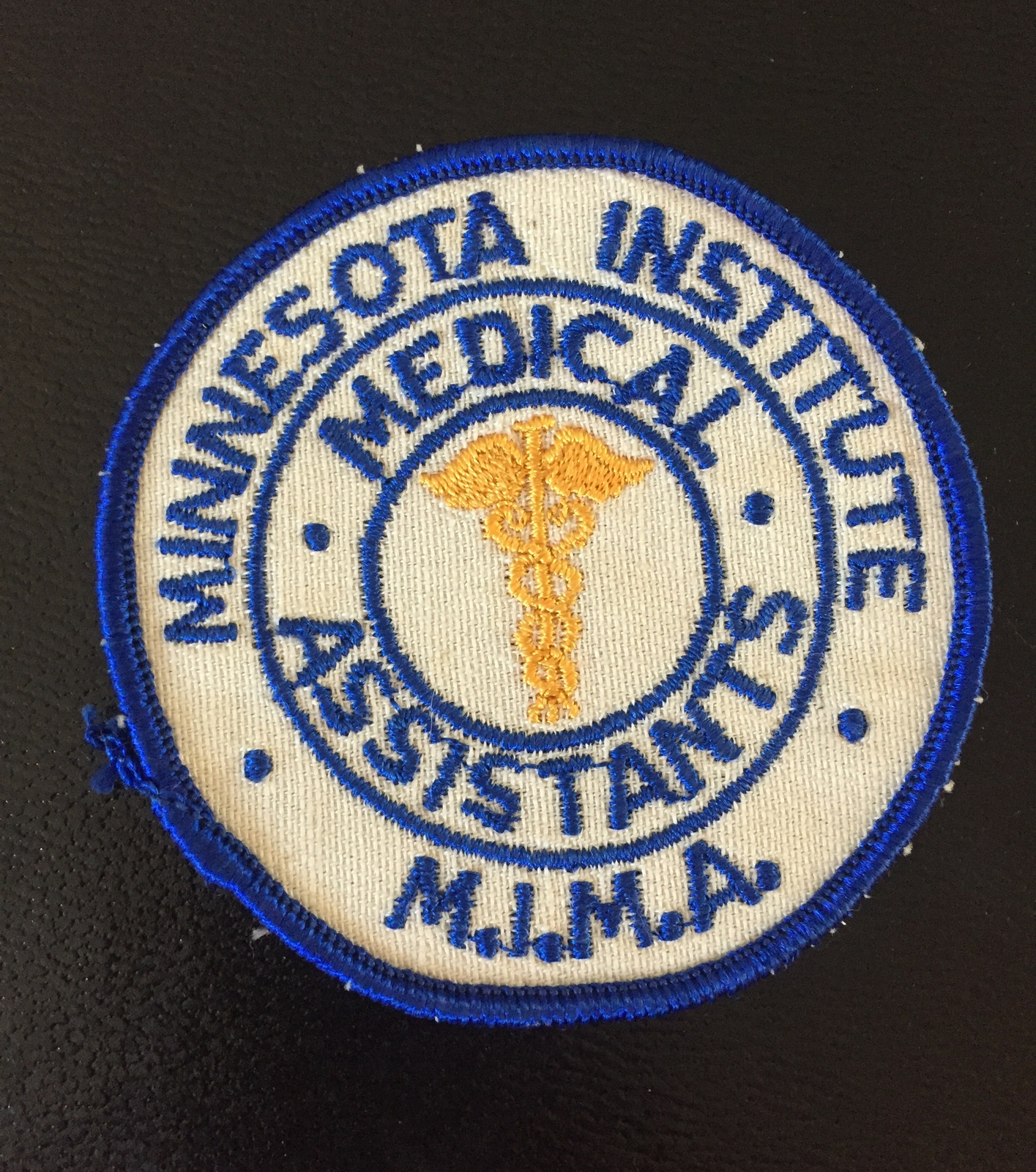 Vintage 70s Minnesota Institute of Medical Assistants (MIMA) patch