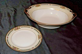 Noritake China (1 Serving Bowl and 1 Dessert Plate) YBRY 76832 AA20-2348A  Vinta