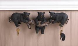 BLACK BEAR TRIO HOOKS WALL PLAQUE 10016200 - $25.75