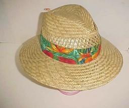 Original Panama Jack Toyo Hawaiian Floral Band Paper Straw Hat Small - M... - $19.79