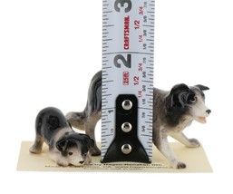 Hagen Renaker Dog Border Collie and Pup Ceramic Figurine Set image 2