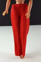 Barbie Red Linen Pants Clone 1960s Clothing - $11.87