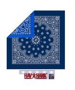 USA MADE Reversible 2 Sided PAISLEY BANDANA NAVY/ROYAL BLUE Head Neck Wr... - $15.08