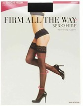 Berkshire BLACK Firm All The Way Lace Top Thigh Highs, 2-pack, US 3X-4X - $13.86