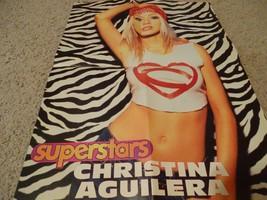 Christina Aguilera teen magazine poster clipping heart white shirt Big B... - $4.00
