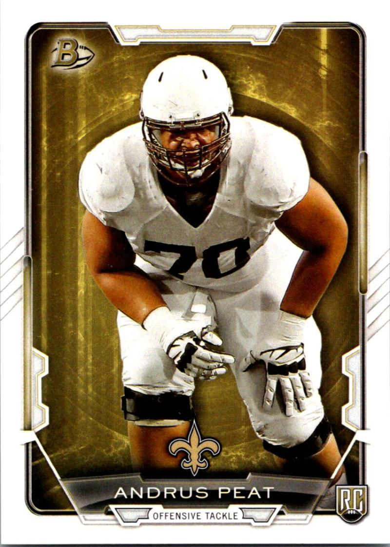 Primary image for 2015 Bowman Rookies #17 Andrus Peat NM-MT RC Rookie Saints