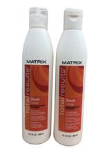 Matrix Total Results Sleek Lisse Shampoo & Conditioner Set Frizz Prone Hair - $21.65
