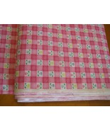 Squares  Bright Pink Fabric calico floral Laurie Campbell Fabric Traditi... - $14.00