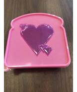 Heart Shape Sandwich Keeper Hard Plastic Lunch School Fresh Kitchen Picnic - $4.26