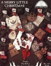 A Merry Little Christmas Homespun Elegance Cross Stitch Pattern Leaflet NEW - $4.47