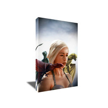 DAENERYS TARGARYEN GAME OF THRONES Poster Photo Painting on CANVAS Wall Art - $36.00+