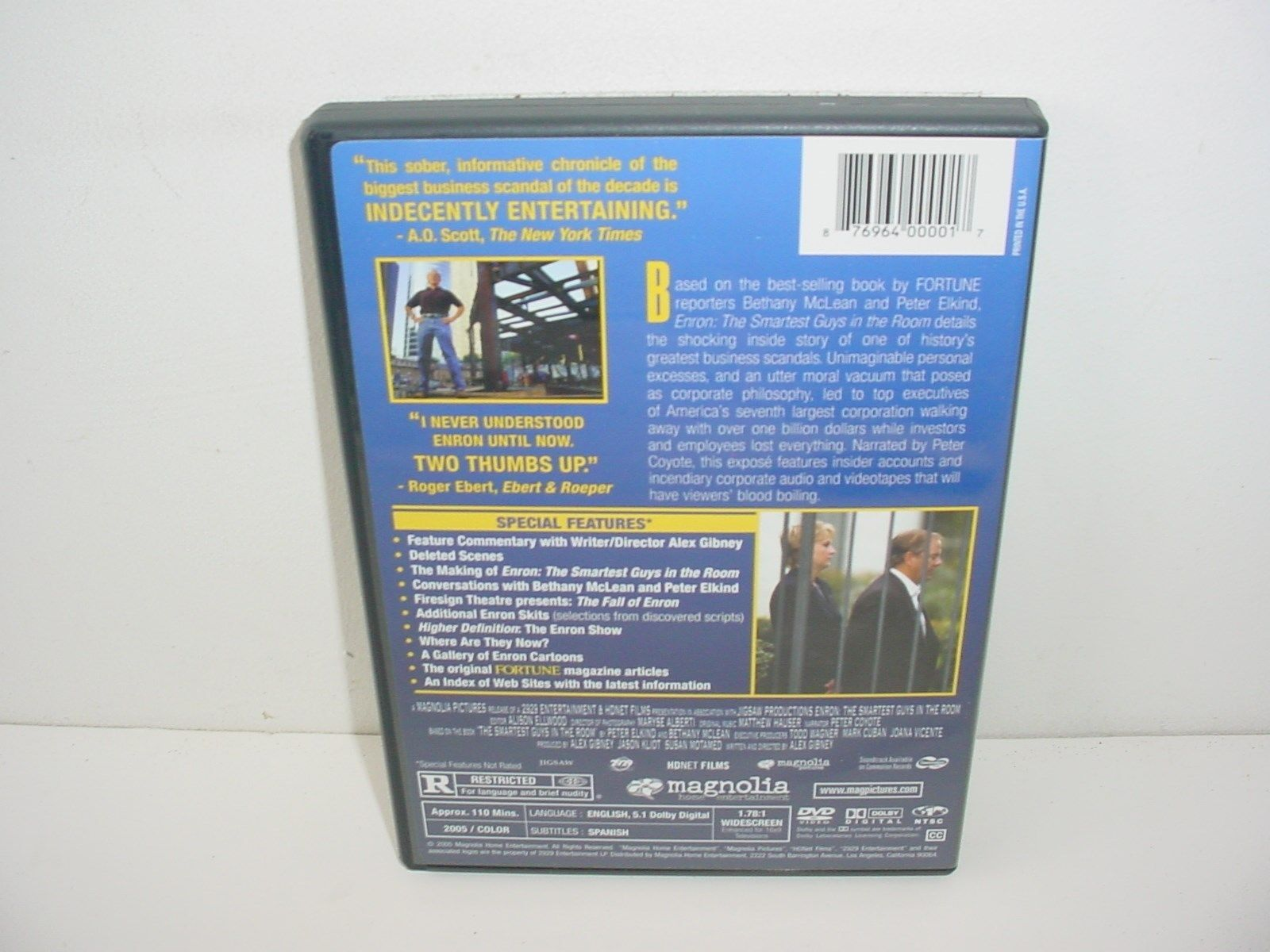 Enron The Smartest Guys in the Room DVD Movie