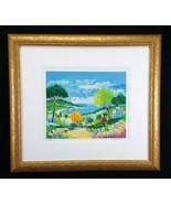 Jean Claude Picot Signed Limited Ed Serigraph Art Print LA ROUTE VERS ST... - $495.00