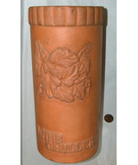 "Vintage 1979 ABC 10"" Tall Terracotta Clay Floral Vino Fresco Wine Chille... - $44.53"