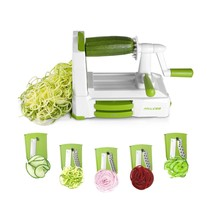 Spiralizer Vegetable Slicer, 5 Blades Zoodle Maker with Strong Hold Suct... - $29.50
