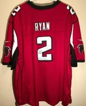 Atlanta Falcons Matt Ryan #2 NFL NFC Nike Red Black Captain Patch Jersey... - $59.39