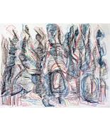 "art Drawing original, ""Charred forest"", Rene Castillo-Ramos - $130.00"