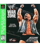 WWF War Zone Playstation 1 PS1 complete CIB Manual with Case - black label - $9.73