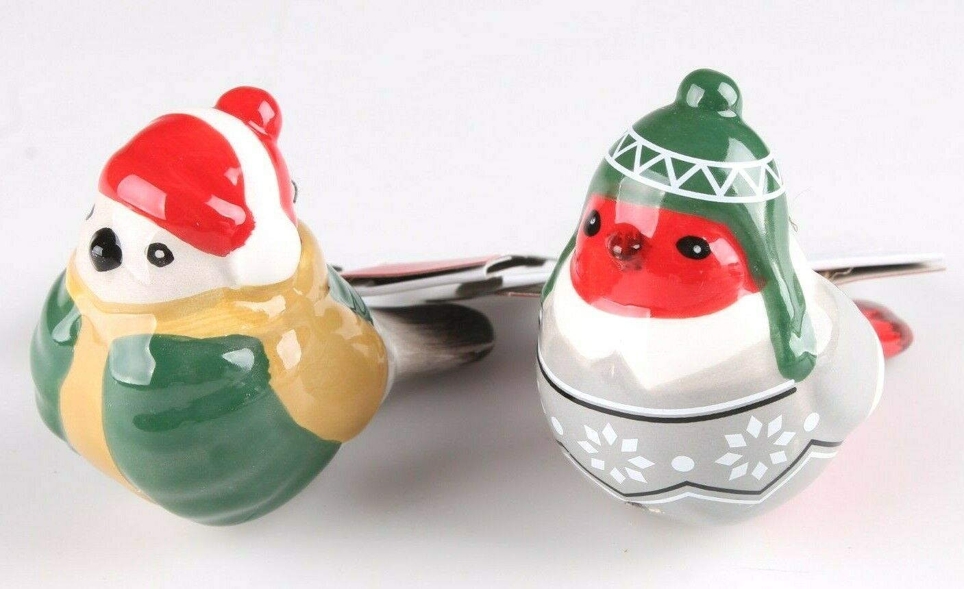 2 Target Wondershop Toymaker Hand Painted Ceramic Bird Ornaments 2018 NWT