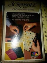 1978 Vintage POCKET EDITION SCRABBLE Crossword Game Complete Excellent N... - $8.91